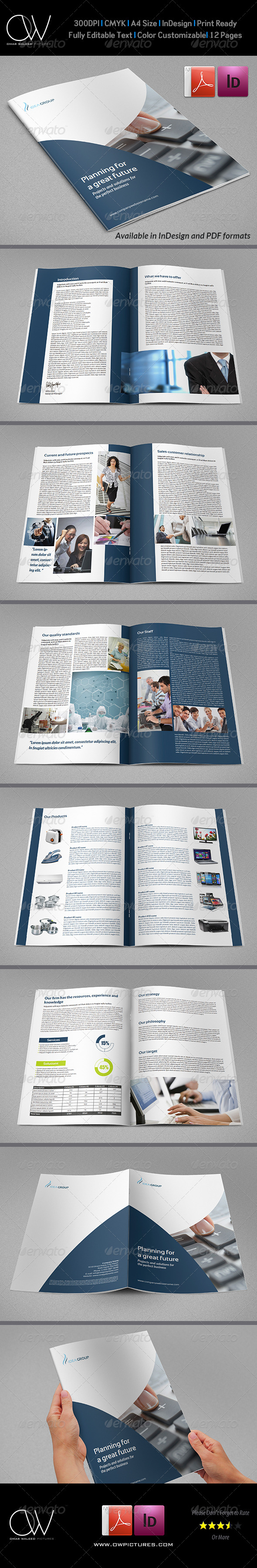 Corporate Brochure Template Vol.19 - 12 Pages - Corporate Brochures