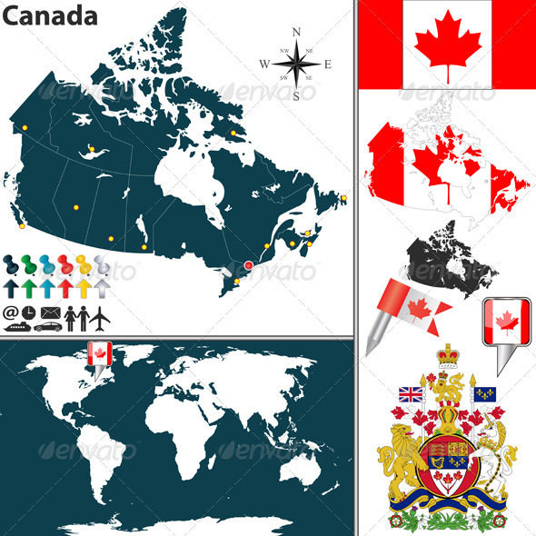 Map of Canada - Travel Conceptual