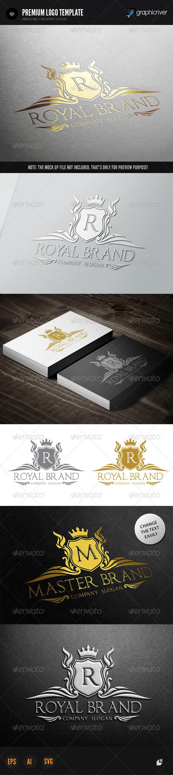 Royal Brand I - Crests Logo Templates