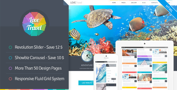 Love Travel - Creative Travel Agency Theme HTML5 - Travel Retail