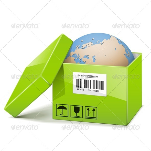 Globe in Green Box - Concepts Business
