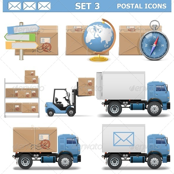 Postal Icons Set 3 - Industries Business