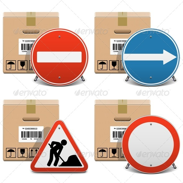 Shipment Icons Set 23 - Industries Business