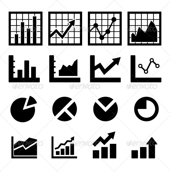 Chart and Diagram Icon - Business Icons