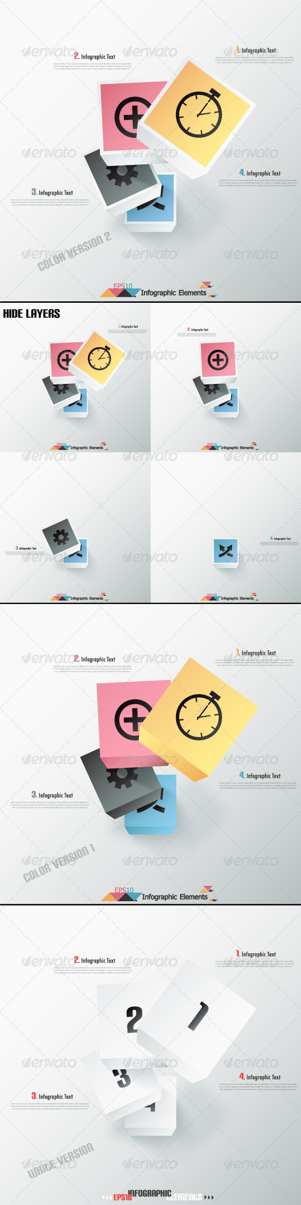 Modern Infographics Options Banner(Three Versions) - Infographics