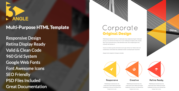 3Angle - Agency Creative HTML Template