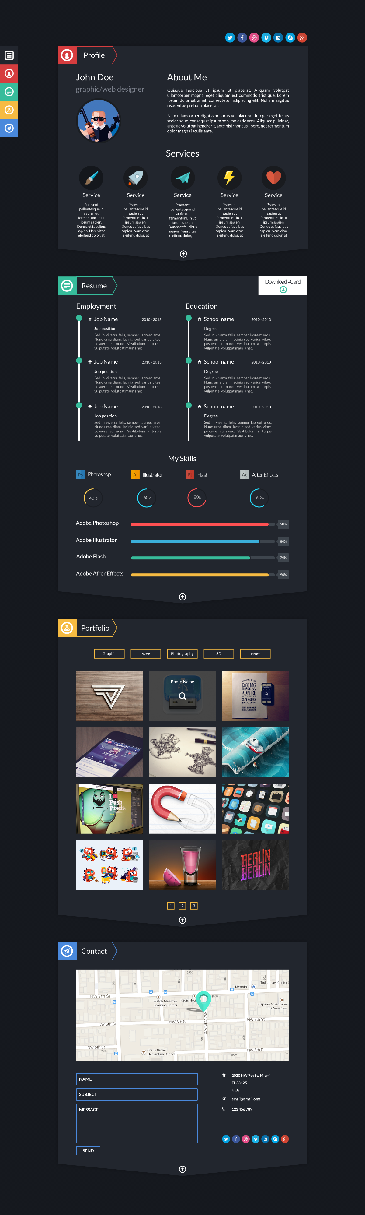 Dash - Modern Resume Template PSD by BigBangThemes | ThemeForest