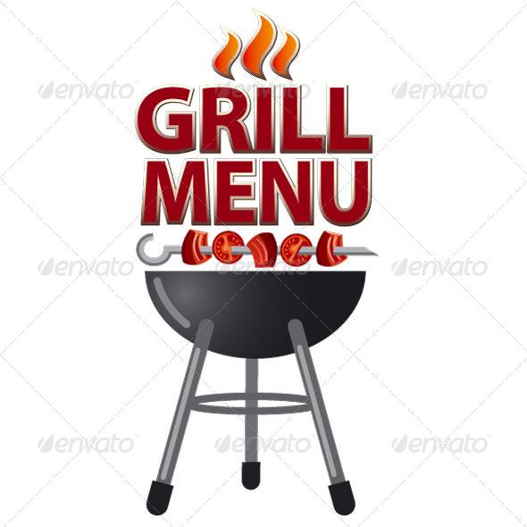 Grill Menu Cover - Vectors