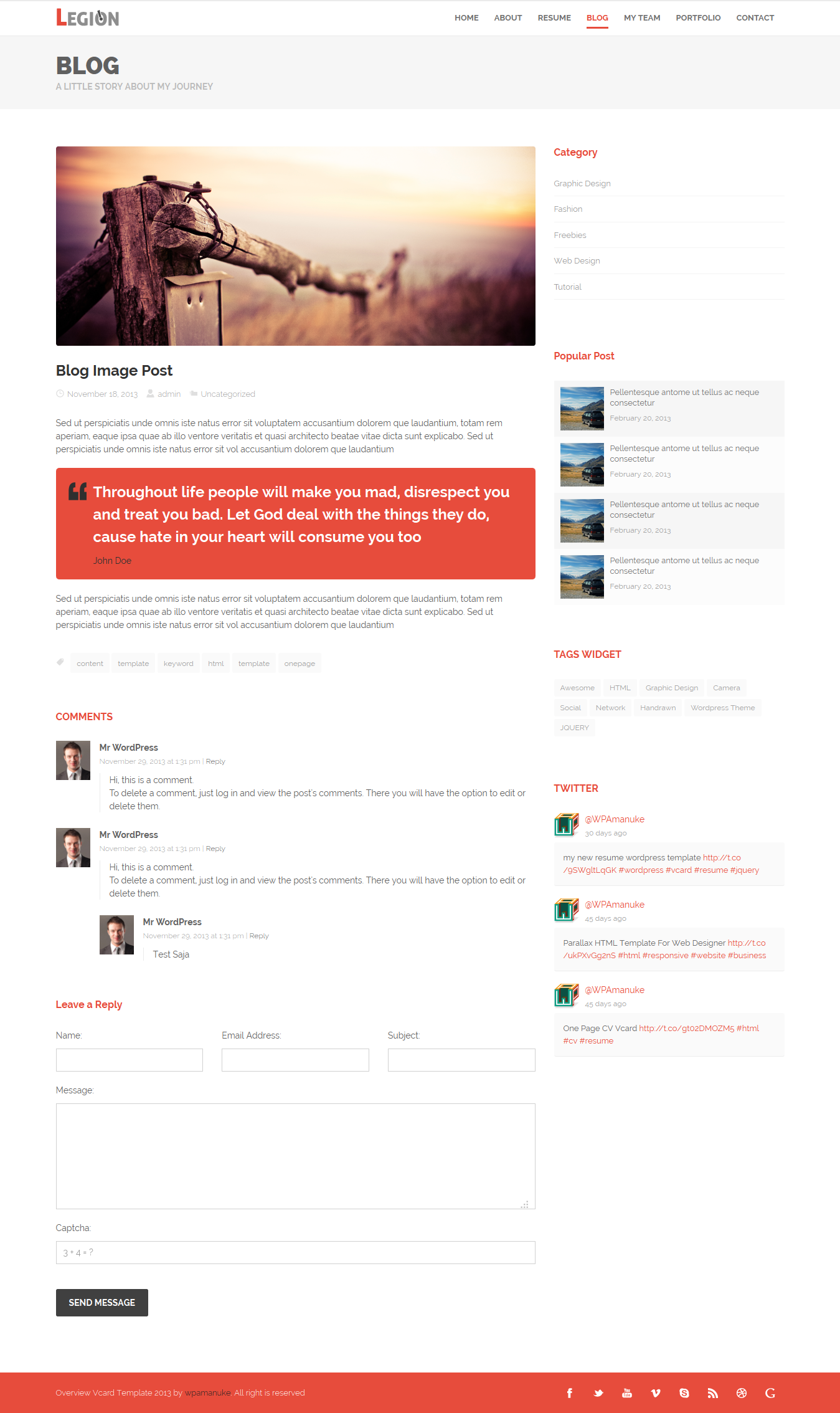 Legion one page resume responsive html template by wpamanuke legion one page resume responsive html template maxwellsz