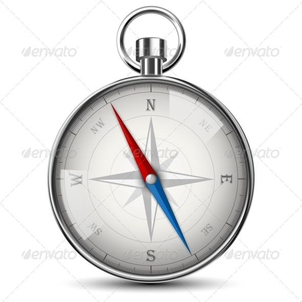 Realistic Compass - Travel Conceptual