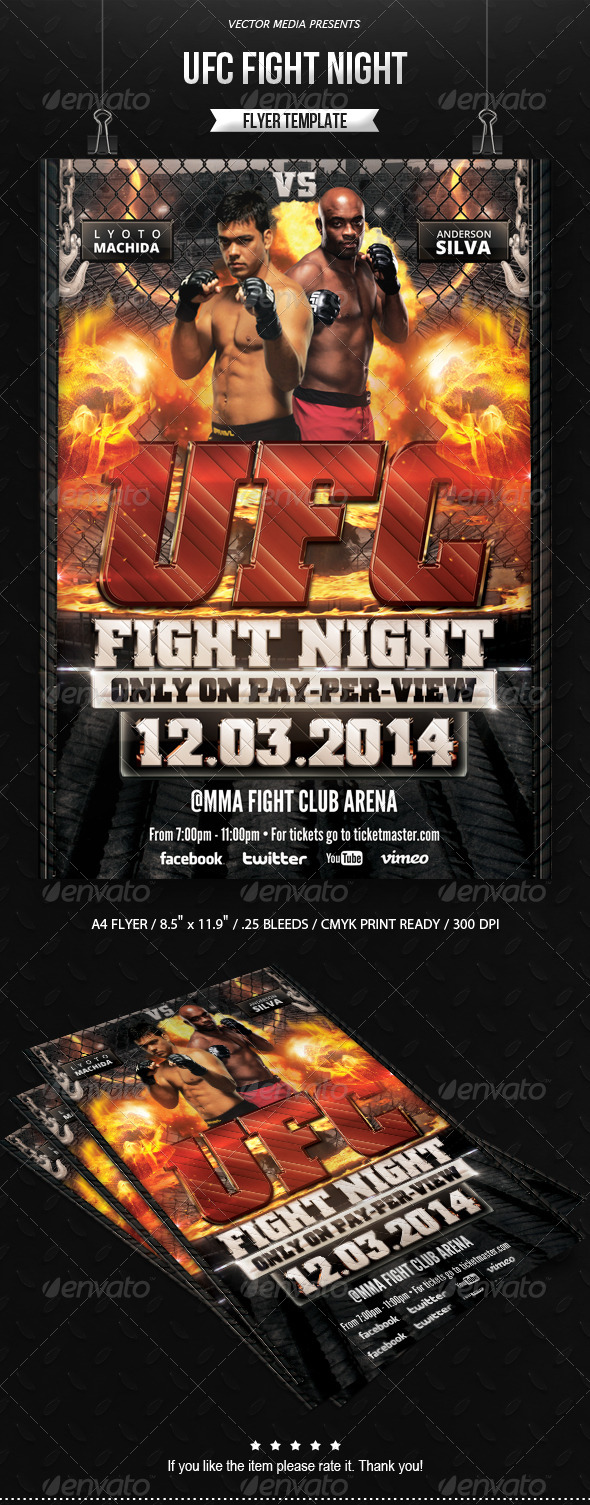 UFC Fight Night - Flyer - Sports Events