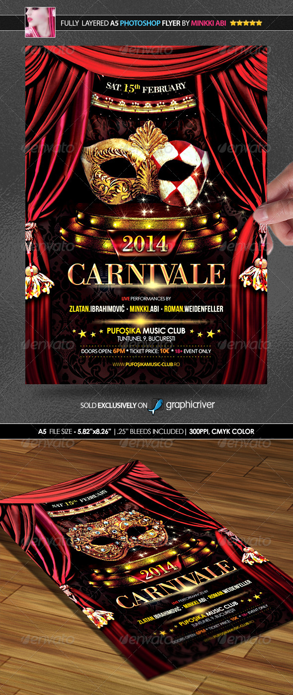 Carnival 2014 Poster/Flyer - Clubs & Parties Events