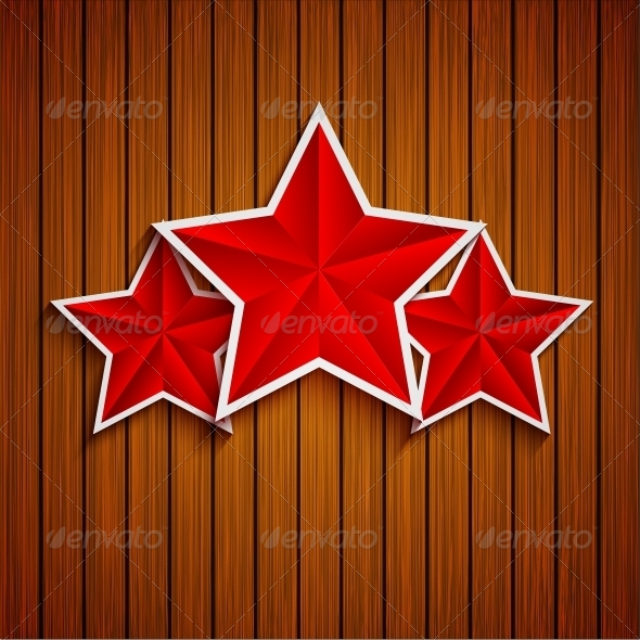Stars on Wood Background - Miscellaneous Seasons/Holidays