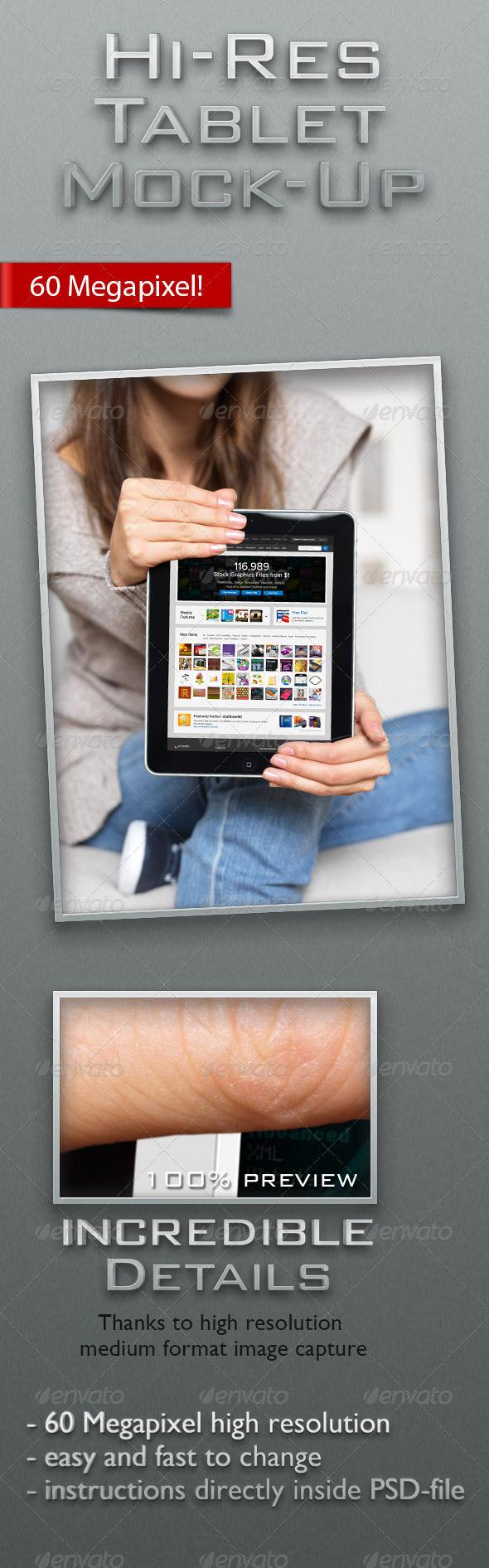 Tablet Computer Hi-Res Mock-Up - Mobile Displays