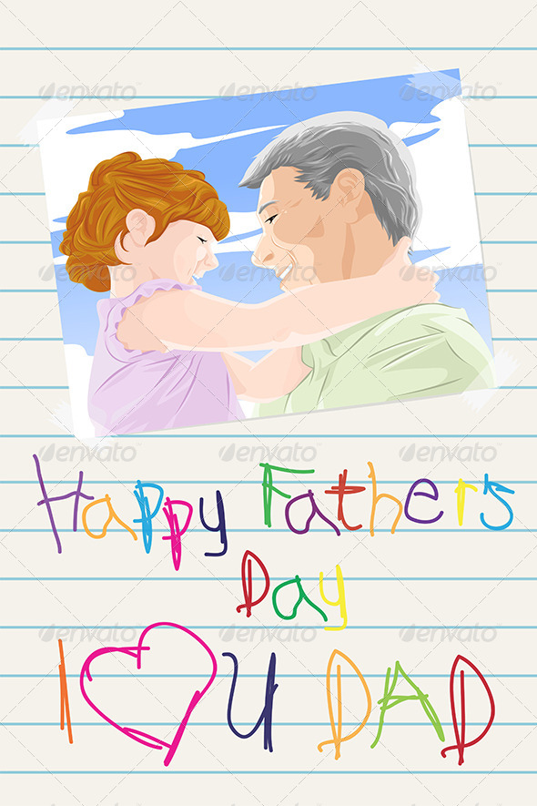 Fathers Day Card - Decorative Vectors