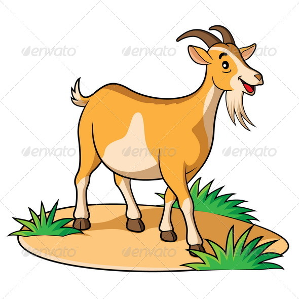 Goat Cartoon - Animals Characters