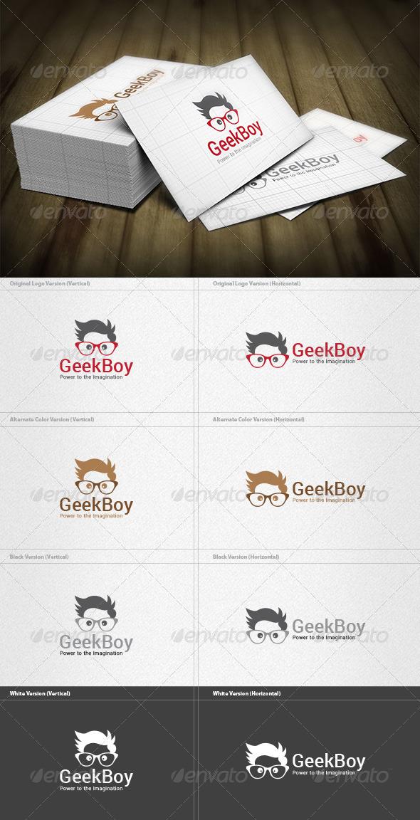 Geek Boy Logo - Humans Logo Templates