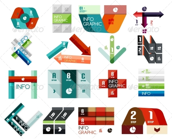 Set of Option Infographics Templates - Web Technology