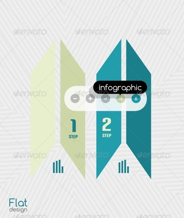 Geometric Infographic Stripes Modern Flat Design - Web Technology