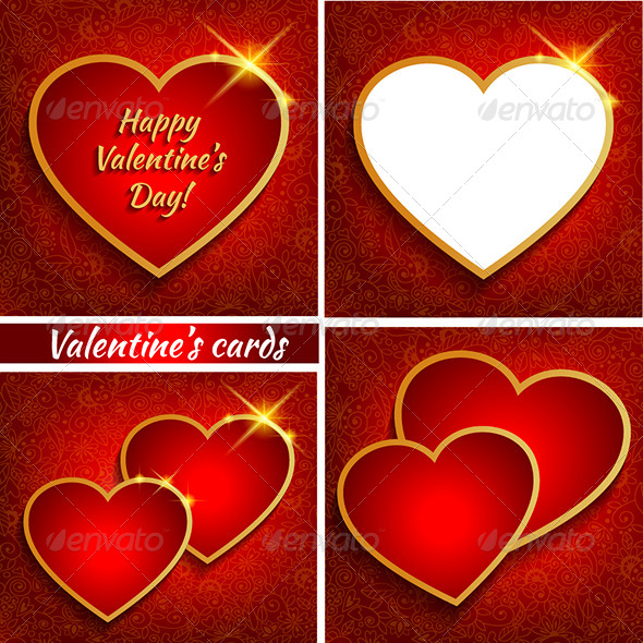 Set of Valentine's Backgrounds  - Valentines Seasons/Holidays