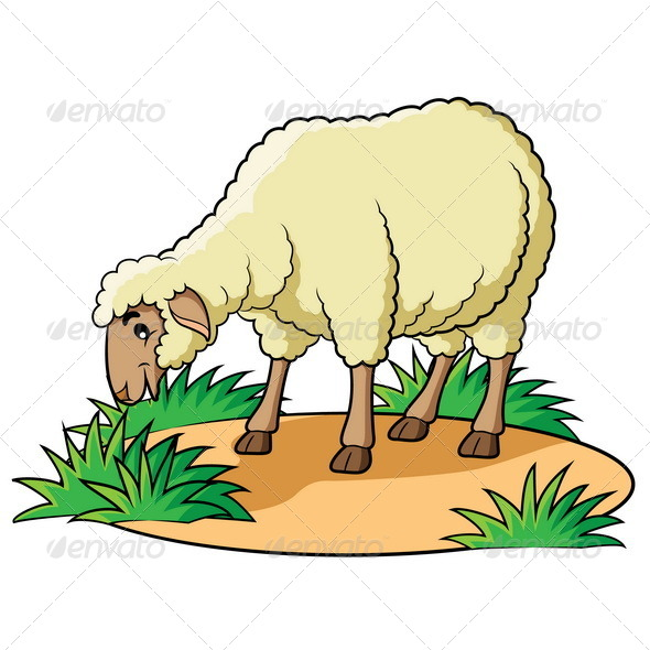 Sheep Cartoon - Animals Characters