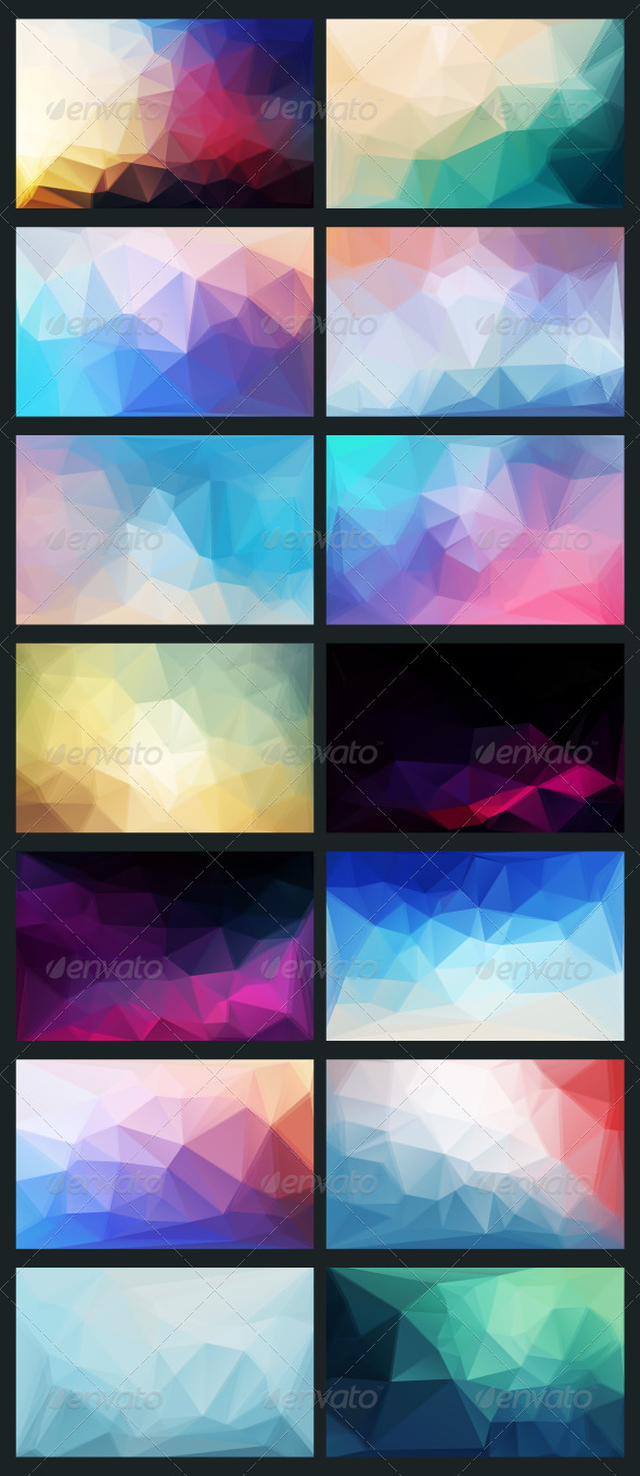 Vector Abstract Background in Style Flat - Backgrounds Decorative