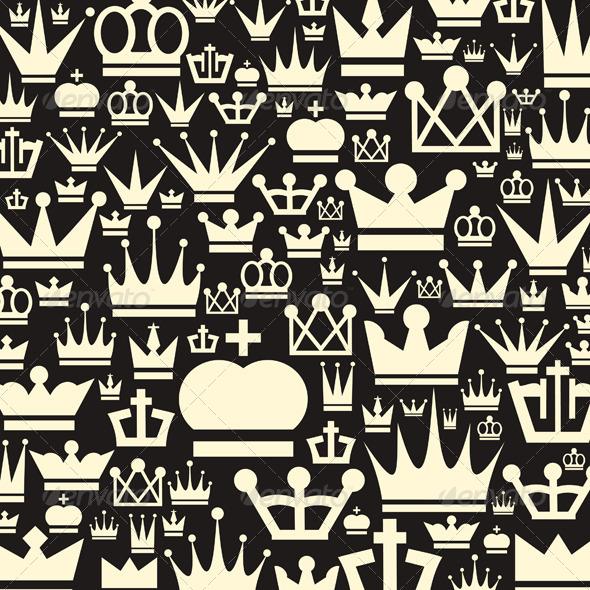 Crown a Background - Miscellaneous Vectors
