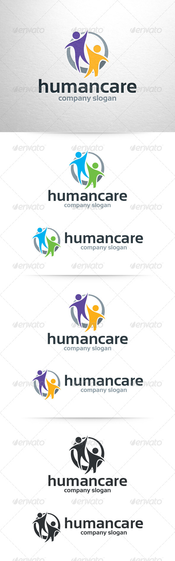 Human Care Logo Template - Humans Logo Templates