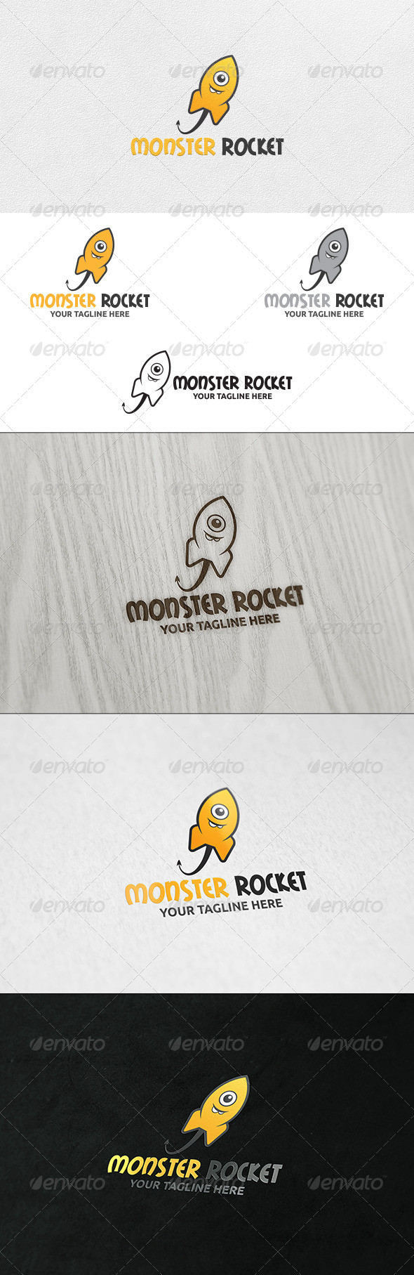 Monster Rocket - Logo Template - Animals Logo Templates