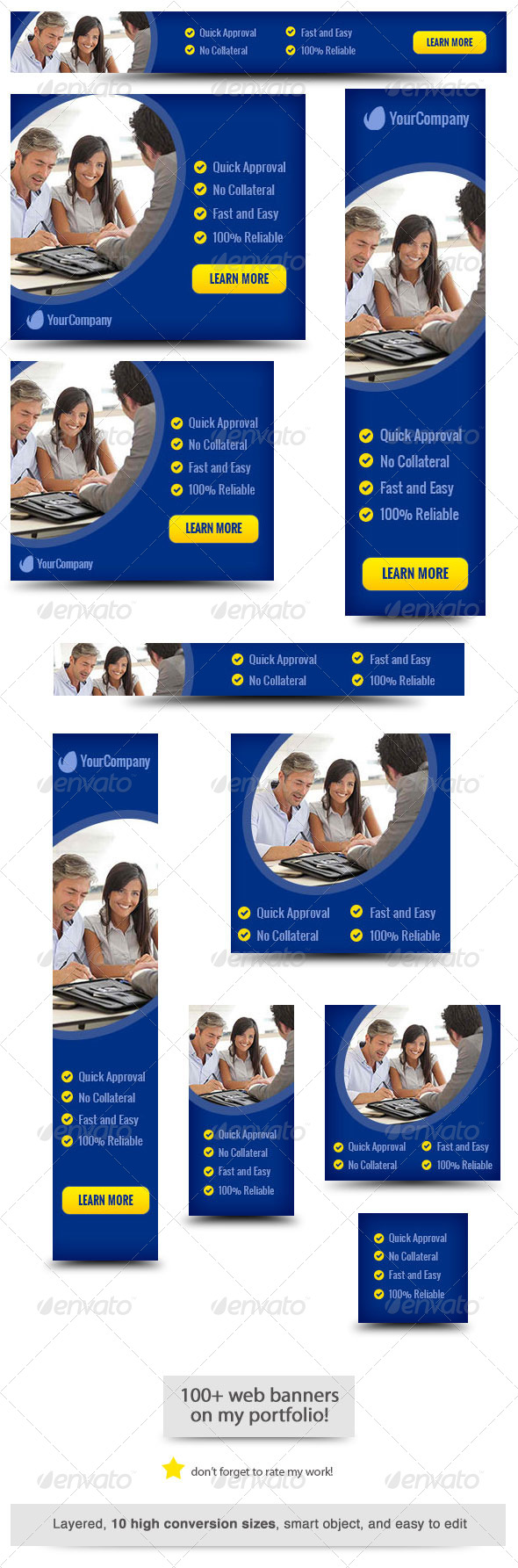 Business Loan Web Banner Design - Banners & Ads Web Elements