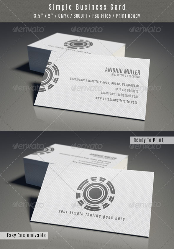 Clean Pattern Business Card - Business Cards Print Templates