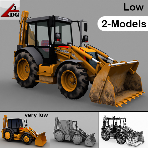 Tractor + Traktor_LOW - 3DOcean Item for Sale