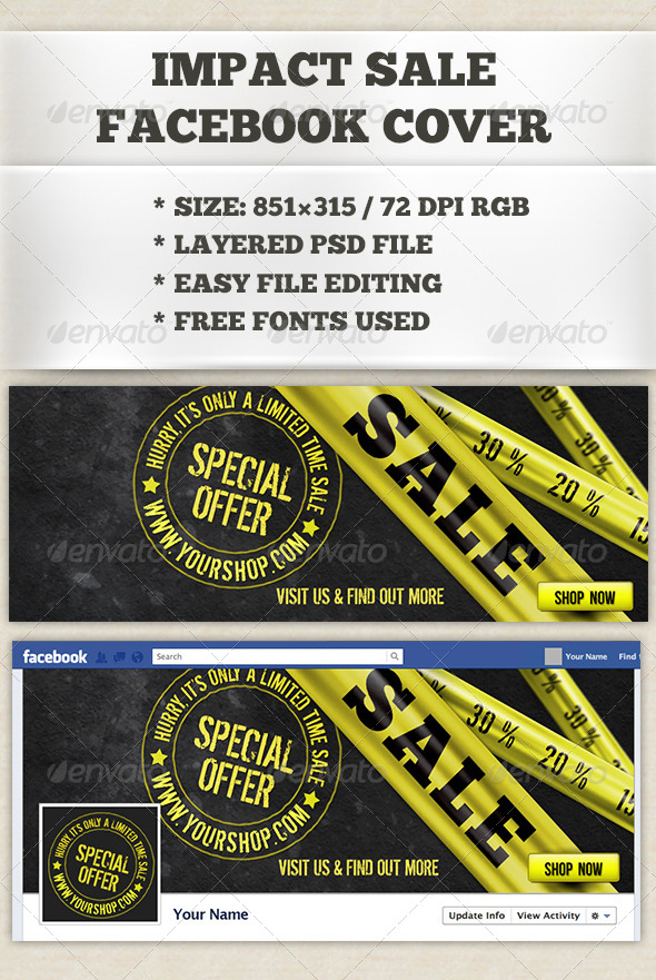 Impact Sale Facebook Timeline Cover - Facebook Timeline Covers Social Media
