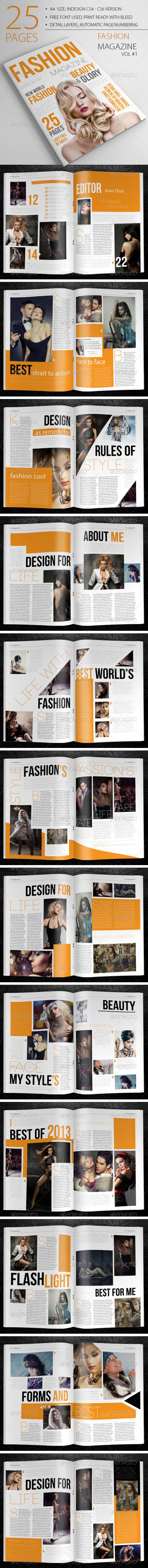 25 Pages Fashion Magazine Vol1 - Magazines Print Templates