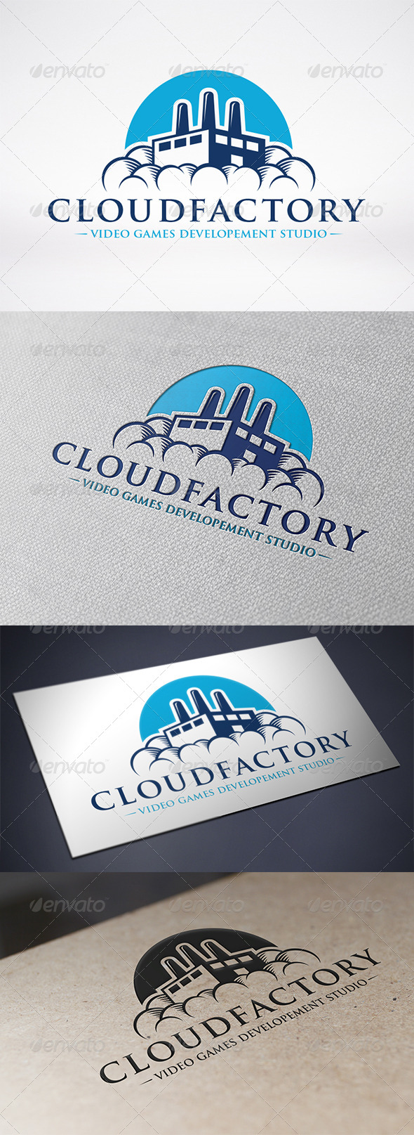 Cloud Factory Logo Template - Buildings Logo Templates