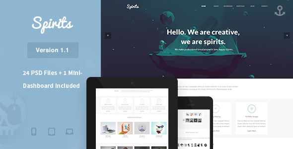 Spirits – PSD Template
