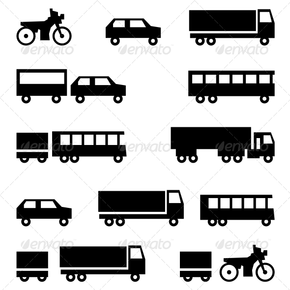 Transportation Symbols - Web Elements Vectors