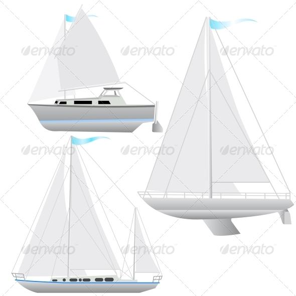 Sailing Boat Set - Web Elements Vectors