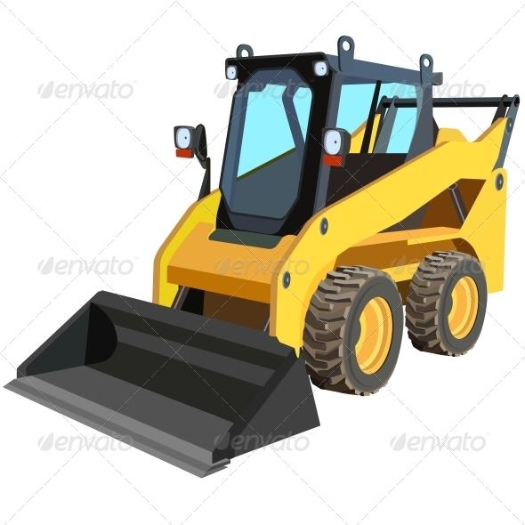 Yellow Truck - Web Elements Vectors