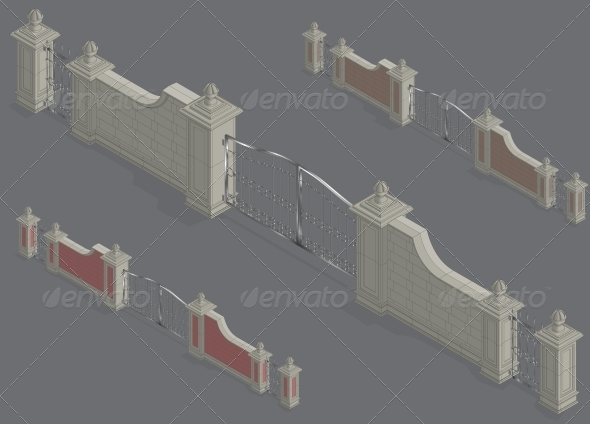 Isometric Gate Portal - Buildings Objects