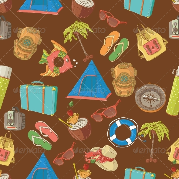 Traveling Seamless Pattern - Travel Conceptual