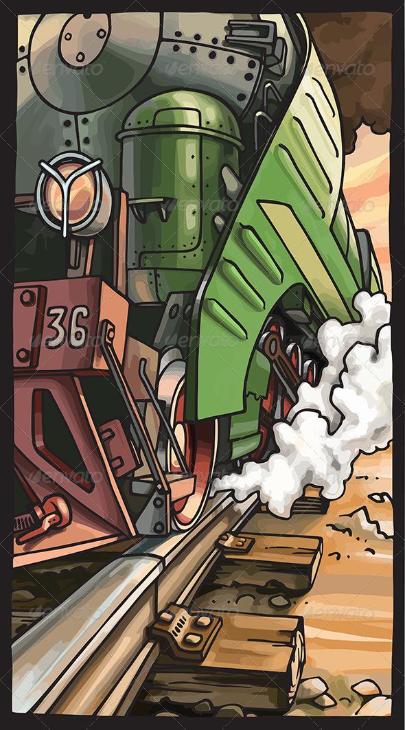 Steam Locomotive - Retro Technology