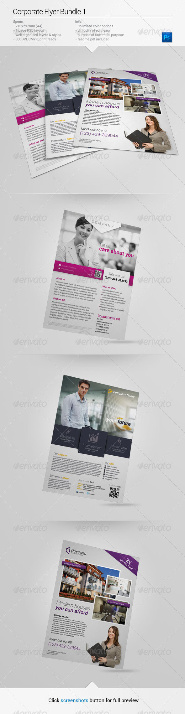 Corporate Flyer Bundle 1 - Corporate Flyers