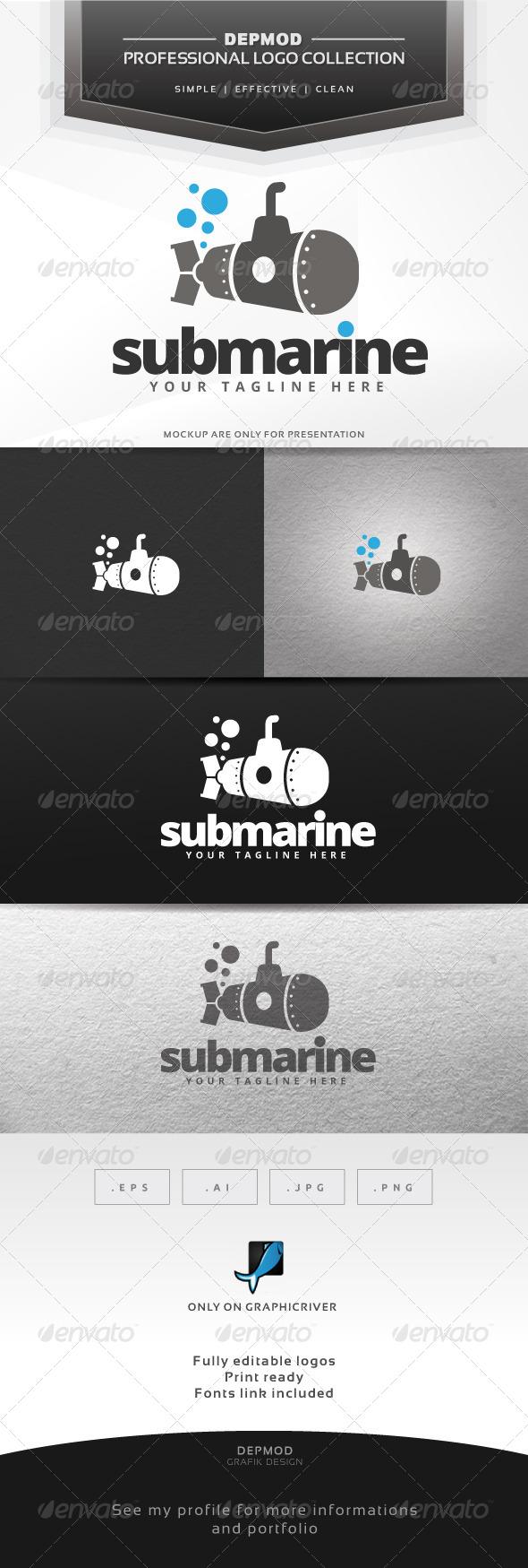 Submarine Logo - Objects Logo Templates