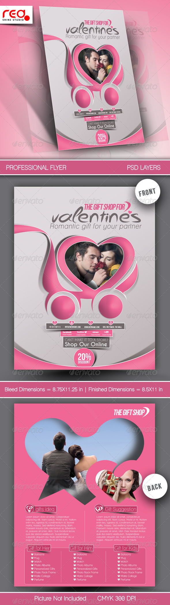 Valentine's Gift Shop Flyer Template - Holidays Events