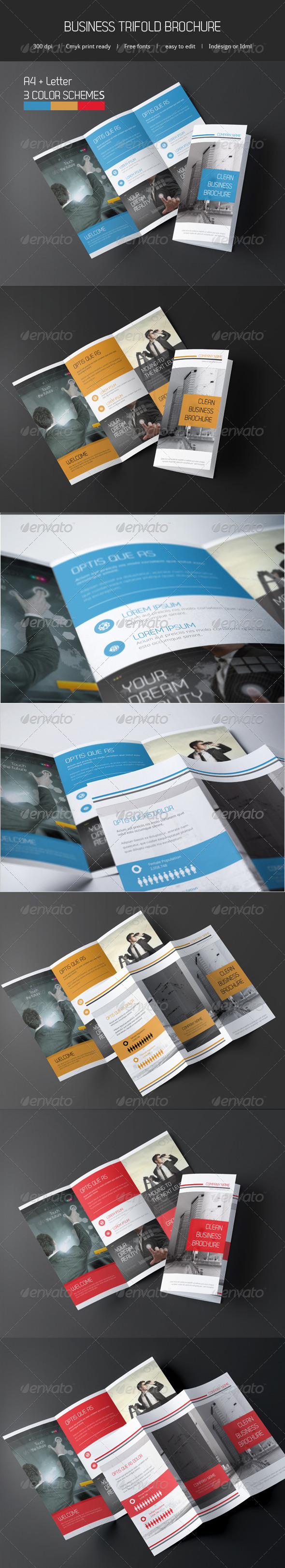 Business Trifold Brochure - Catalogs Brochures