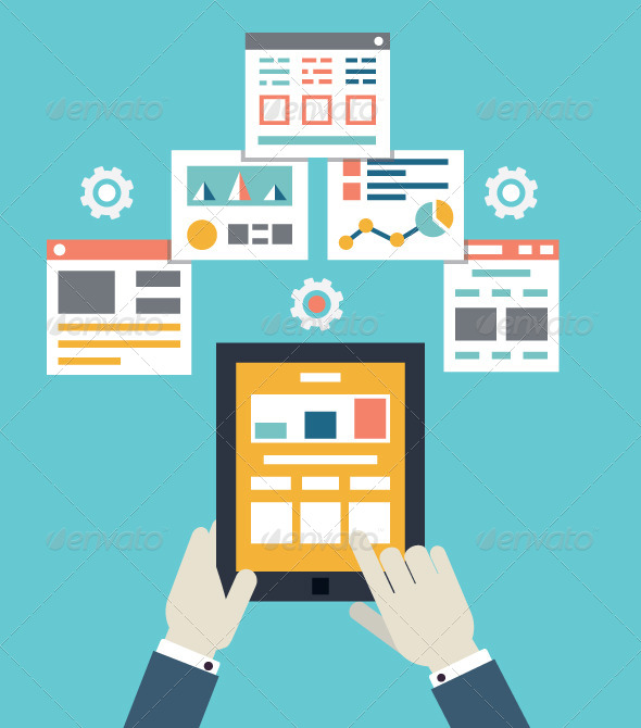 Illustration of Mobile Application Optimization - Web Technology