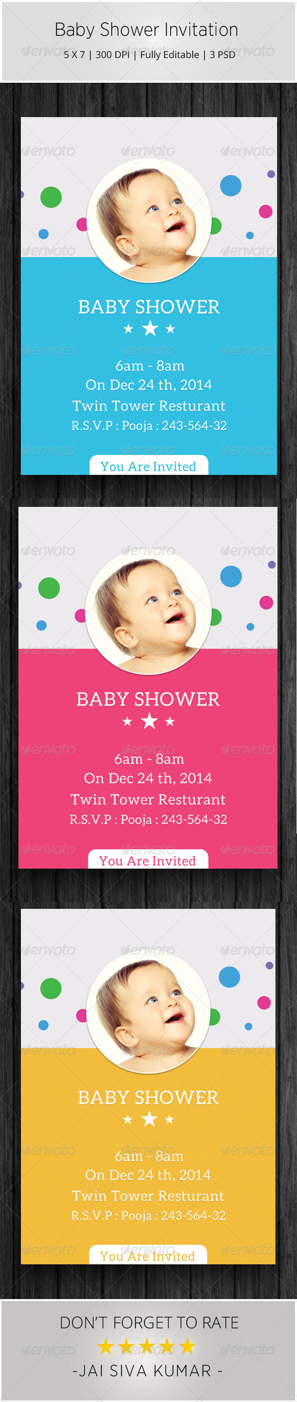 Baby Shower Invitation Templates - Invitations Cards & Invites