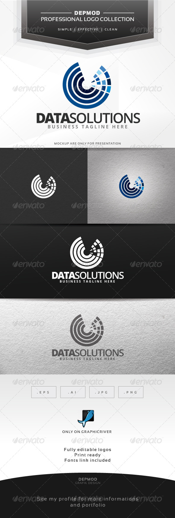 Data Solutions - Abstract Logo Templates