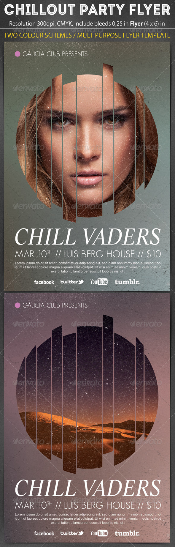 Chillout Party Flyer Template - Clubs & Parties Events